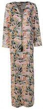 Kimono da spiaggia Maxi con uccelli tropicali Meg