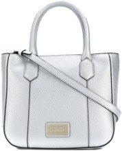 Emporio Armani - front logo tote bag - women - PVC - OS - GREY