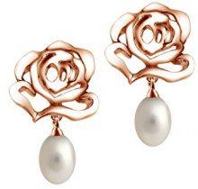 Fei Liu Fine Jewellery Orecchini a pendolo e goccia Donna argento Argento sterling 925 rotonda - ROS-925P-206-PL00