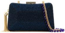 Serpui - embellished clutch - women - Polyester - OS - BLUE