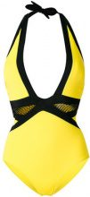 Moeva - plunge swimsuit - women - Polyamide/Spandex/Elastane - S, M, L - YELLOW & ORANGE