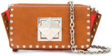 Sonia Rykiel - Sonia Rykiel Le Copain Clou shoulder bag - women - Calf Leather/PVC - One Size - BROWN