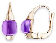 Miore           FINEEARRING, oro rosa, colore: Purple Quartz, cod. MNA9015E