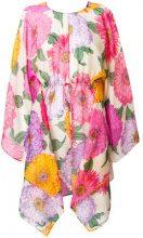 Twin-Set - Vestito floreale - women - Cotone/Silk - 44 - MULTICOLOUR