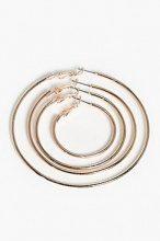 Sophia set orecchini a cerchio semplice a grandezza mista