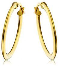 Miore Orecchini Donna Cerchio Oro Giallo 18 Kt/750