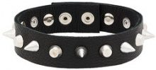 Manokhi - Choker con punte - women - Leather/metal - OS - BLACK