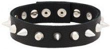 Manokhi - Choker con punte - women - Leather/metal - OS - BLACK