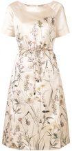 Bottega Veneta - Vestito con stampa a fiori - women - Silk/Polyester/Cotton - 40, 42 - NUDE & NEUTRALS