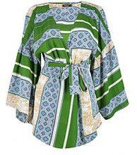 Isla Top a portafoglio con maniche kimono stampate sul bordo