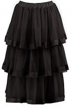 Eleni Tulle Layered Full Midi Skirt