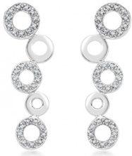 E-11206 - Orecchini pendenti da donna, oro bianco 9k (375)