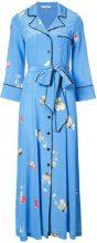 Ganni - floral print maxi dress - women - Silk - XS, S, M, XXS - BLUE
