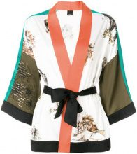 Pinko - Kimono con cintura - women - Polyester/Spandex/Elastane - 40 - WHITE
