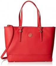 Tommy Hilfiger Honey Med Tote - Borse Donna, Rosso (Tommy Red), 13.5x42x27 cm (B x H x T)