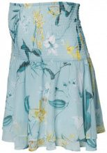 MAMA.LICIOUS Flower Printed Skirt Women Blue