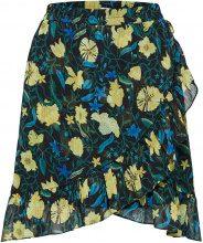 SELECTED Flower Printed - Skirt Women Black