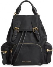 Burberry - Zaino 'The Crossbody' - women - Cotone/Calf Leather/Acrylic/metal - OS - Nero