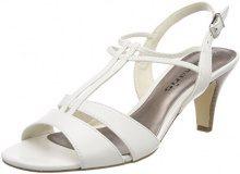 Tamaris 28304, Sandali con Cinturino alla Caviglia Donna, Bianco (White Matt), 39 EU
