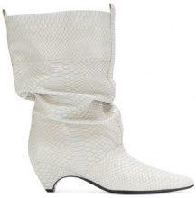 Stella McCartney - faux-python slouchy boots - women - Polyester - 36, 37, 38, 39, 40 - WHITE