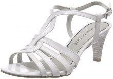 Marco Tozzi 28321, Sandali con Cinturino alla Caviglia Donna, Bianco (White Patent), 38 EU