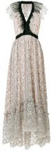 Philosophy Di Lorenzo Serafini - embroidered floral flared dress - women - Polyamide/Polyester - 44, 46, 48, 40, 42, 38 - NUDE & NEUTRALS