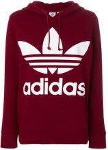 Adidas - trefoil hoodie - women - Cotton - 38, 40, 42, 36 - RED
