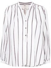 Diega - striped button up blouse - women - Silk/Cotton/Linen/Flax/Viscose - XS, M - WHITE