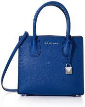 Michael Kors Mercer - Borse a tracolla Donna, Blu (Electric Blue), 12.7x21.6x26 cm (W x H L)
