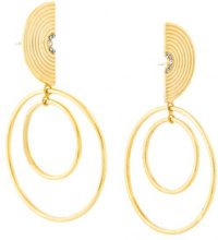Charlotte Valkeniers - Cerchi 'Spectrum' - women - Crystal/Gold Plated Sterling Silver - OS - METALLIC