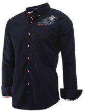 Camicia con bottoni colorati