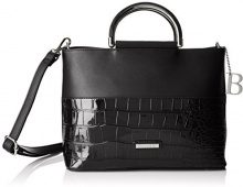 Bulaggi Shadow Handbag - cartella Donna, Schwarz, 21x12x29 cm (B x H T)