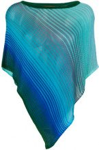 Missoni - striped draped top - women - Viscose/Polyester - OS - BLUE