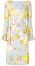Emilio Pucci - printed fitted dress - women - Silk/Viscose - 42, 44, 46, 48, 50 - BLUE