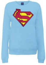 DC Comics Official Superman Shards Logo Womens Sweatshirt, Lungo da donna, manica lunga, collo rotondo, blu(royal blue), taglia produttore: 40
