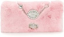 Miu Miu - Clutch - women - Rabbit Fur - OS - PINK & PURPLE