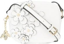 Christian Siriano - floral embellished crossbody bag - women - Polyester - OS - Bianco
