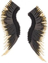Mignonne Gavigan - long wings beaded earrings - women - Acetate - OS - BLACK