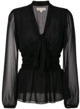 Michael Michael Kors - Blusa con lavallière - women - Polyester - S - BLACK