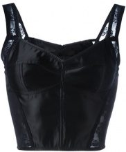 Dolce & Gabbana - lace detail cropped top - women - Cotton/Elastodiene/Nylon - 42 - BLACK