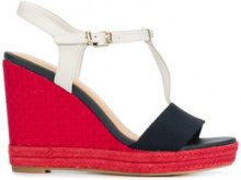 Tommy Hilfiger - Zeppe - women - Leather/Polyester/rubber - 36, 37, 38, 39, 40, 41 - Rosso