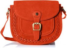 Fly London Zeek602fly - Borse a tracolla Donna, Orange (Poppy Orange), 2x20x24 cm (W x H L)