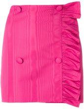 MSGM - Minigonna con dettaglio increspato - women - Polyester - 38, 42 - PINK & PURPLE