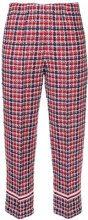 COOHEM - Spring tweed pants - women - Cotton/Nylon/Acrylic - 38 - RED
