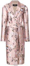 Rochas - Cappotto con cintura - women - Polyester/Silk/Cupro/Viscose - 42, 40, 44 - NUDE & NEUTRALS