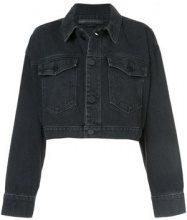 Alexander Wang - cropped jacket - women - Cotton - M, L - BLACK