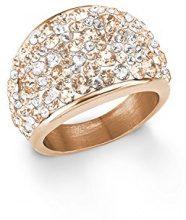 S. Oliver anello da donna, 16 mm, cristalli Swarovski Elements e acciaio inox, multicolore, misura 16 - 567558