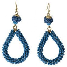 PIECES Round Pearl Earrings Women Blue