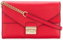 Michael Michael Kors - Sloan chain wallet - women - Leather - OS - RED