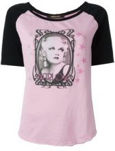 Roberto Cavalli - 'Harlow' T-shirt - women - Cotton - 40 - PINK & PURPLE